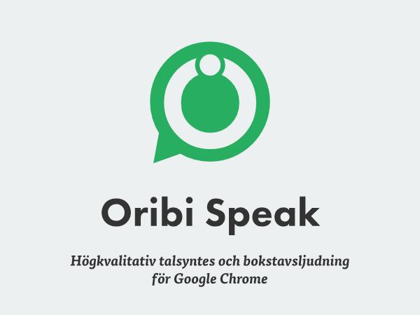Oribi Speak hjälper dig att stava rätt i Chrome