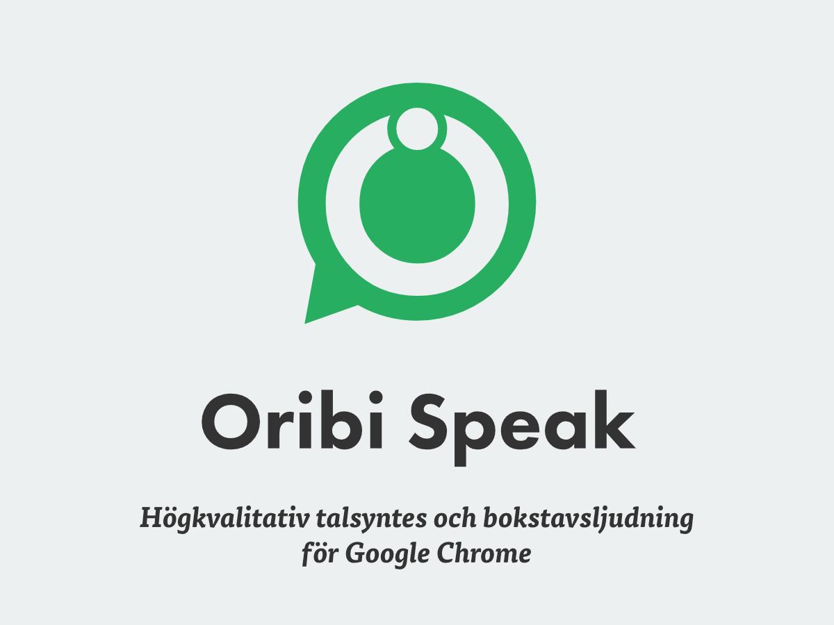 Oribi Speak • Oribi hjälper dig stava rätt! d504bc73d53f1