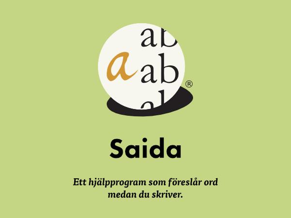 Saida hjälper dig att stava rätt