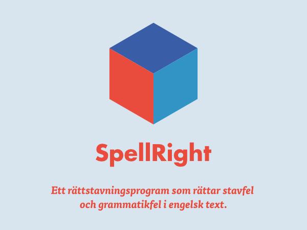 SpellRight hjälper dig att stava rätt på engelska