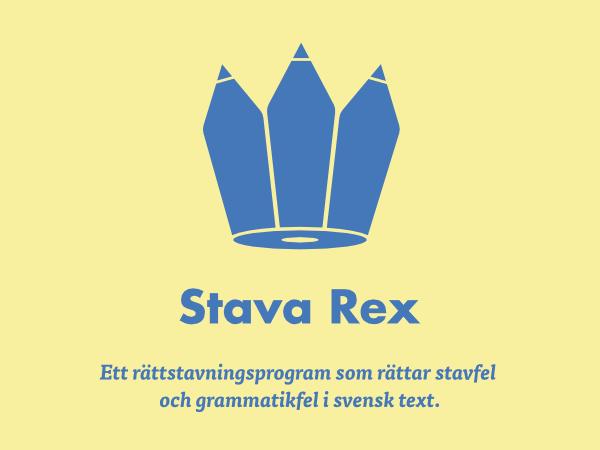 Stava Rex hjälper dig att stava rätt på svenska