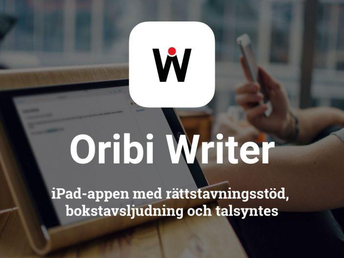 iPad-appen med rättstavningsstöd, bokstavsljudning och talsyntes