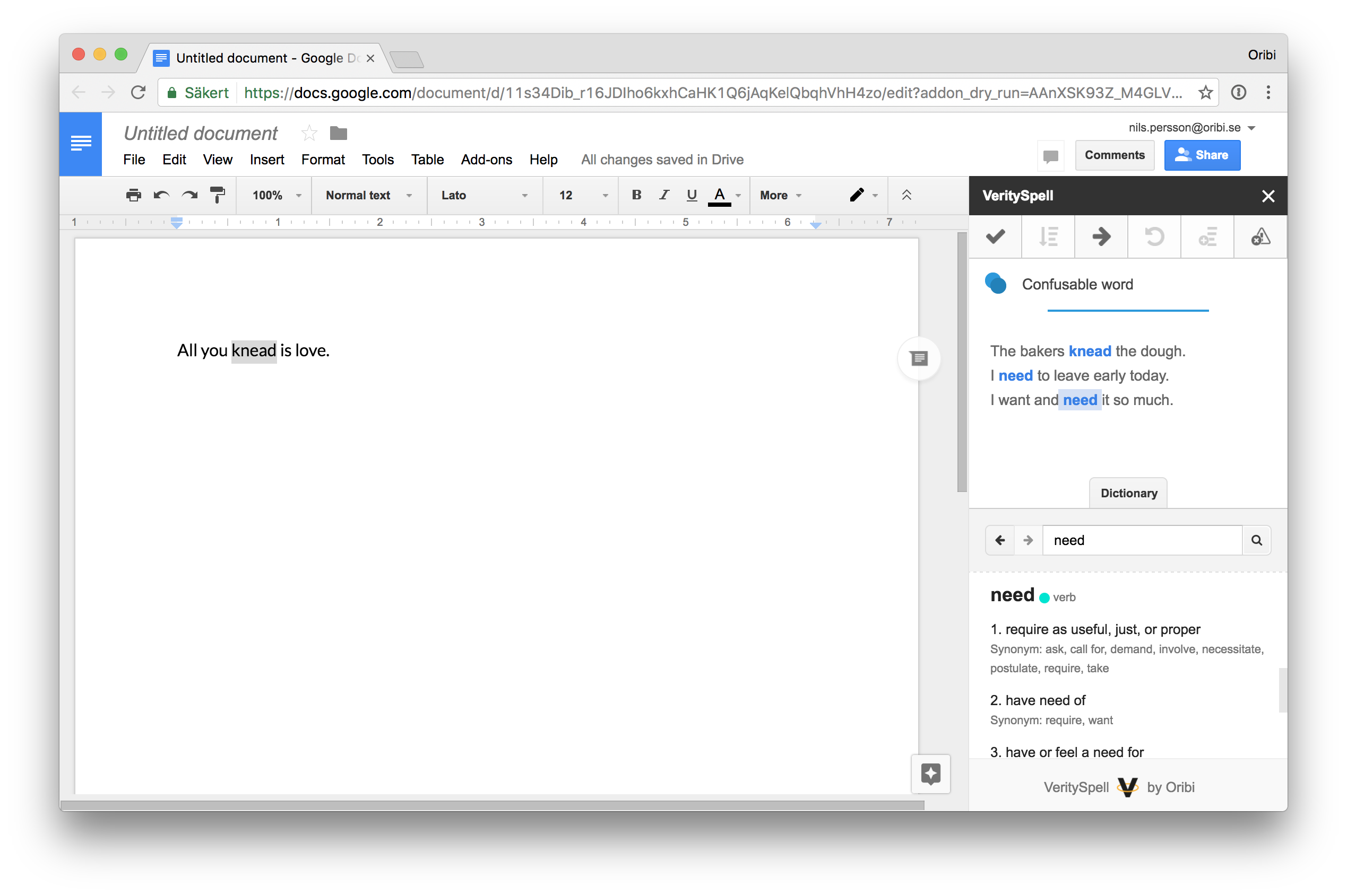Dictionary In Verityspell For Google Docs Let S Solve Your