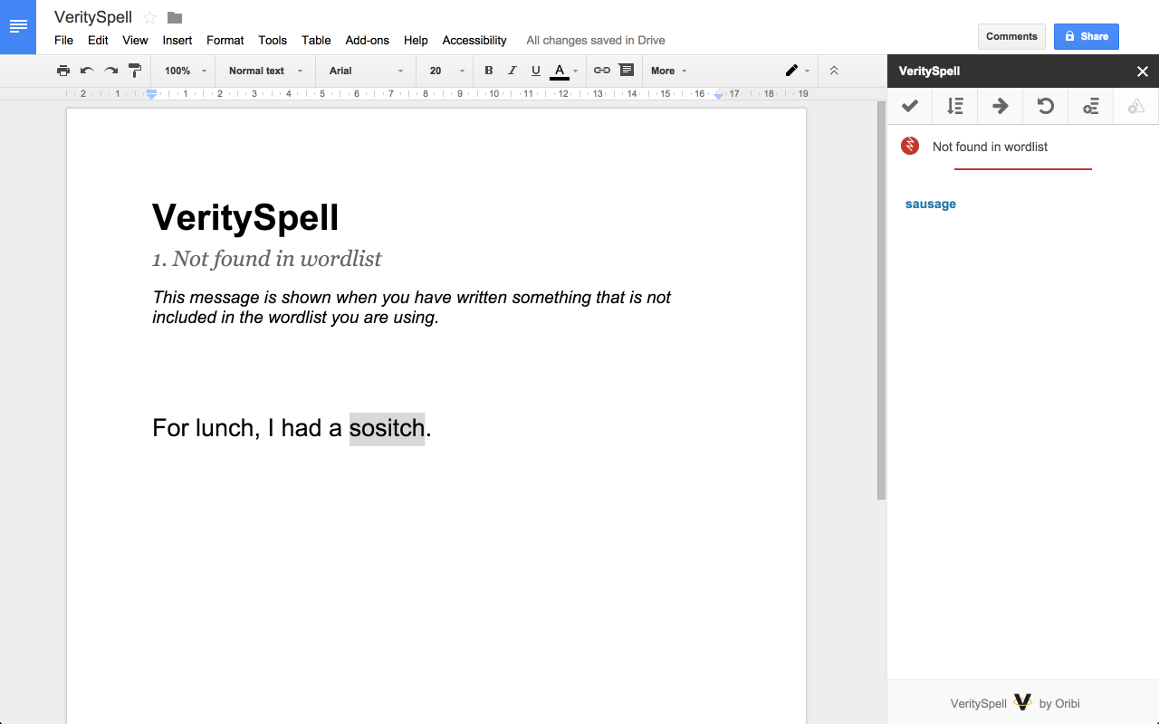 verityspell for google docs let s solve your spelling problems